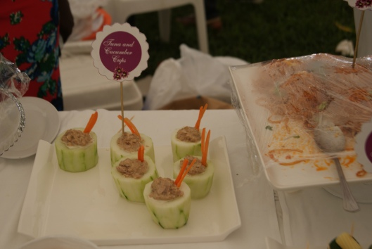 Tuna and Cucumber Cups