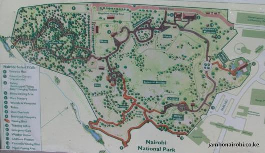 Nairobi-Safari-Walk-Map
