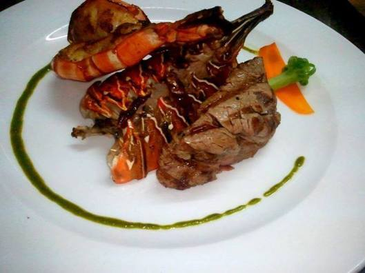 Surf and Turf (Lobster and Steak)